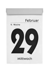 Schaltjahr 2012 - Datum auf Abreißkalender