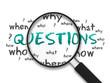 Leinwanddruck Bild - Magnifying Glass - Questions
