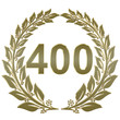 Lorbeerkranz geschlossen Gold - 400