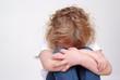 Leinwanddruck Bild - trauriges Mädchen