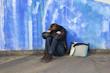 Leinwandbild Motiv 18.1.12 weinen an der Wand