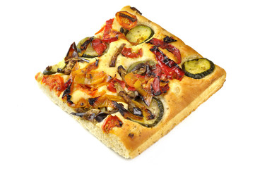 Italian flat bread with vegetables
