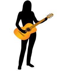 The Musician and guitar.