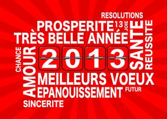 2013, carte éclat rouge