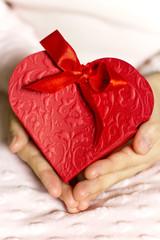 Heart gift box.