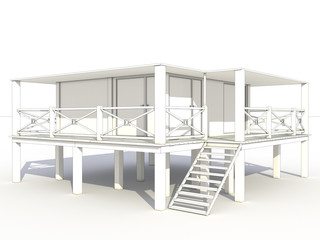 3d drawing of a beach house №1