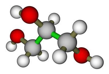 Glycerol molecular structure