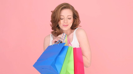 Excited Woman Shopper
