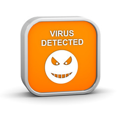 Virus Detected Sign