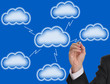 Blank cloud computing for your text