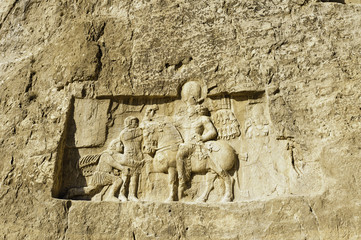 relief of Naqsh-e Rustam in Fars province, Shiraz, Iran