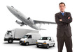 Businessman and transport logistics