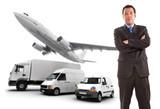 Businessman and transport logistics