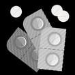 pills over black