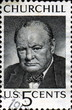 Winston Churchill. 1874-1965. US Postage.