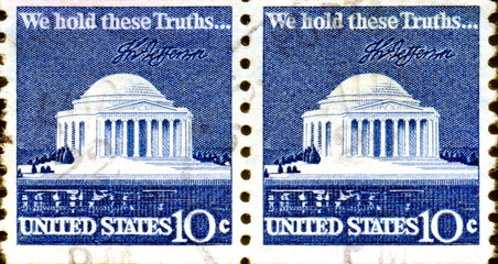 We hold these truths. Capitole. US Postage.
