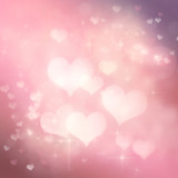 Fototapety Valentines day festive bokeh background