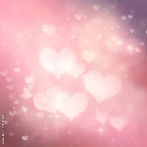 Valentines day festive bokeh background
