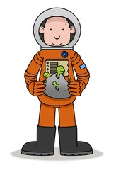 Astronaut & Aliens