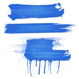 Fototapety Blue Paint Strokes