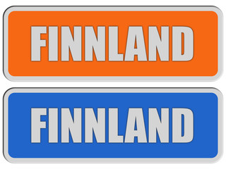 2 Sticker orange blau rel FINNLAND