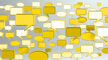many conversation icons yellow