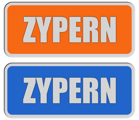 2 Sticker orange blau rel ZYPERN
