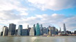 New York City Manhattan skyline time lapse