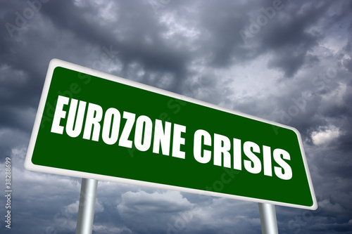 Eurozone crisis sign