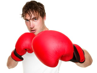 Fitness boxer boxing isolated