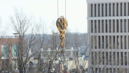 Tower Crane Hook Going Up