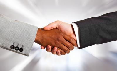 Multiethnic handshake