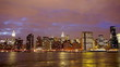 New York City Manhattan midtown skyline  at dusk time lapse