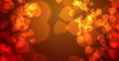 Love Bokeh Banner Orange Rot