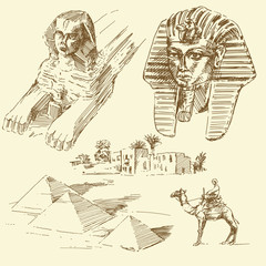 egypt - hand drawn collection
