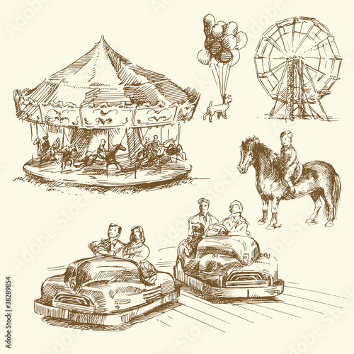 carousel -  hand drawn collection