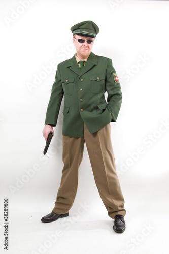 Poster Cooler Polizist