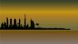 Dubai desert skyline