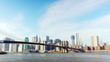 Brooklyn Bridge with lower Manhattan skyline  time lapse