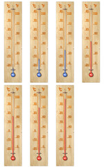 Set of thermometers 3d
