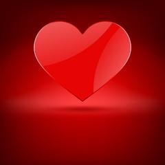 Heart gift present Valentine's day vector background
