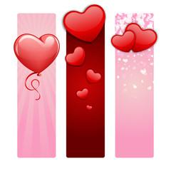 Valentine's day banners set