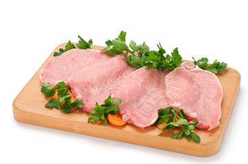 Lombo di maiale a fette