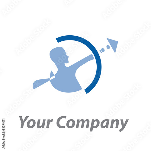 Logo abstract Archer # Vector
