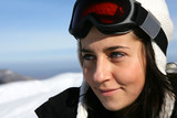 Portrait of a female skier