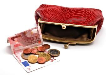 Monedero con dinero