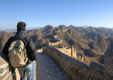 Man standing alone on the Great Wall of China poster