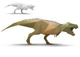Dinosaur stylized triangle polygonal model poster