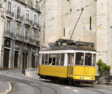 Fototapety classic yellow tram of Lisbon, Portugal