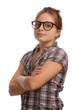 junges Mädchen mit Brille